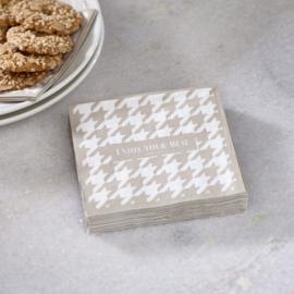 Paper Napkin Pied-de-Poule Riviera Maison 494610
