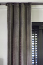 Velvet Curtain light grey 140x270 Riviera Maison 386080