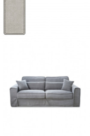 Metropolis Sofa 2,5 seater, washed cotton, ash grey 3658007