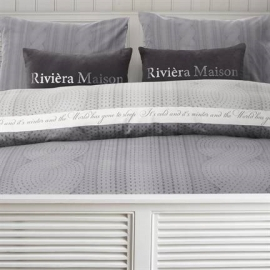 Winterdreams Light Grey 140x200/220 Riviera Maison dekbedovertrek