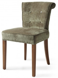 Meadow Dining Chair, velvet, olive, Riviera Maison 4058002