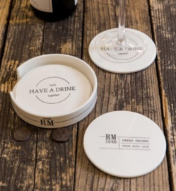 Let's Have A Drink Coasters 4 pcs Riviera Maison 382470