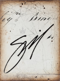 T 315 Artist's Signature Sid Dickens tegel bij Jolijt