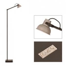 vloerlamp Mazz Tierlantijn met aluminium kapje en led lampje