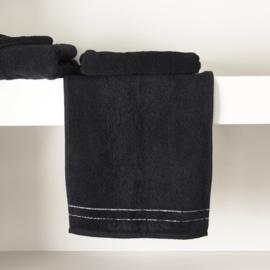RM Elegant black Guest Towel 50x30 Riviera Maison 466940