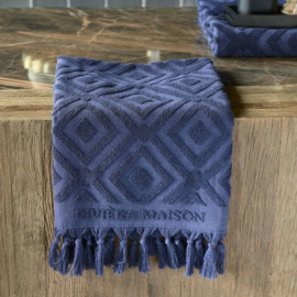 RM Chic Towel dark blue 100x50 Riviera Maison 495430