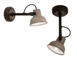 Mazz wandlamp met aluminium kap