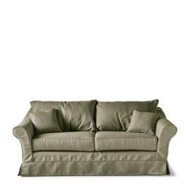 Bond Street Sofa 2.5 Seater, oxford weave, forest green Riviera Maison 4384003