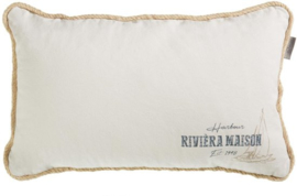 RM Nautical Mile cushion Blue 30x50 kussen Riviera Maison (incl.vulling) 180917