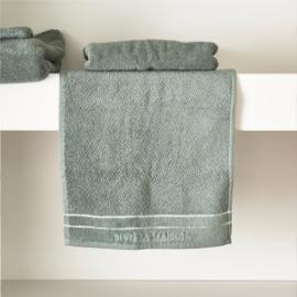 RM Elegant moss Guest Towel 50x30 Riviera Maison 466950