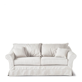 Bond Street Sofa 2.5 Seater, oxford weave, alaskan white Riviera Maison 4384001