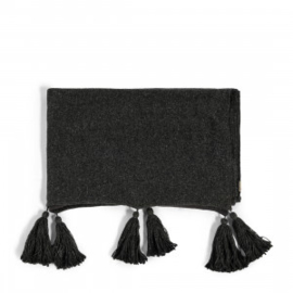 Tassle Treasure Throw black 170x130 Riviera Maison 471060