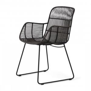 Hartford Outdoor Lounge Chair Espresso Lava Riviera Maison 448670