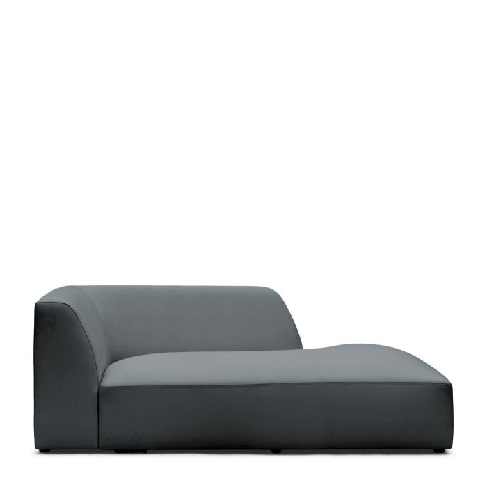 Formentera Outdoor Chaise Longue Right Anthracite Riviera Maison 6627001