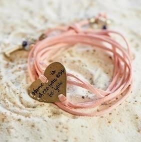 Home is.. Bracelet pink Riviera Maison 301860
