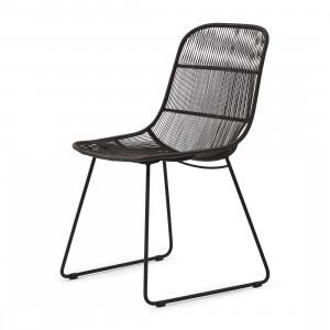 Hartford Outdoor Dining Chair Espresso/Lava Riviera Maison 448630