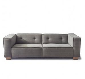 Hampton Heights Sofa 3,5 seater, washed cotton, grey,Riviera Maison,3948003
