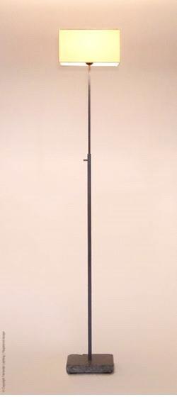 Hardstenen Vloerlamp Frezoli Loodkleur (excl. kap) L.096.1.000