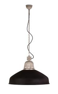 Torr XL Hanglamp aan ketting Tierlantijn mat zwart / Aluminium
