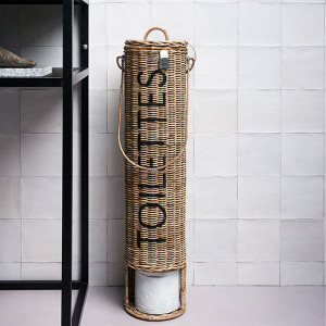 Toiletrolhouder Rustic Rattan Toilettes Riviera Maison 192510