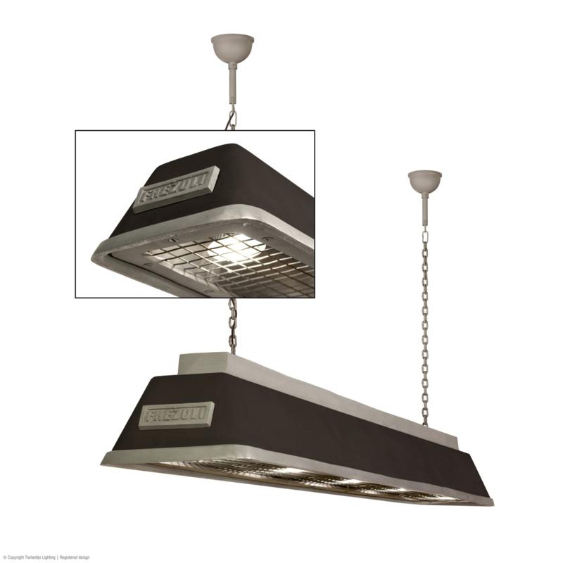 Bizz Small Mat zwart Gegoten aluminium hanglamp Frezoli L.841.1.600