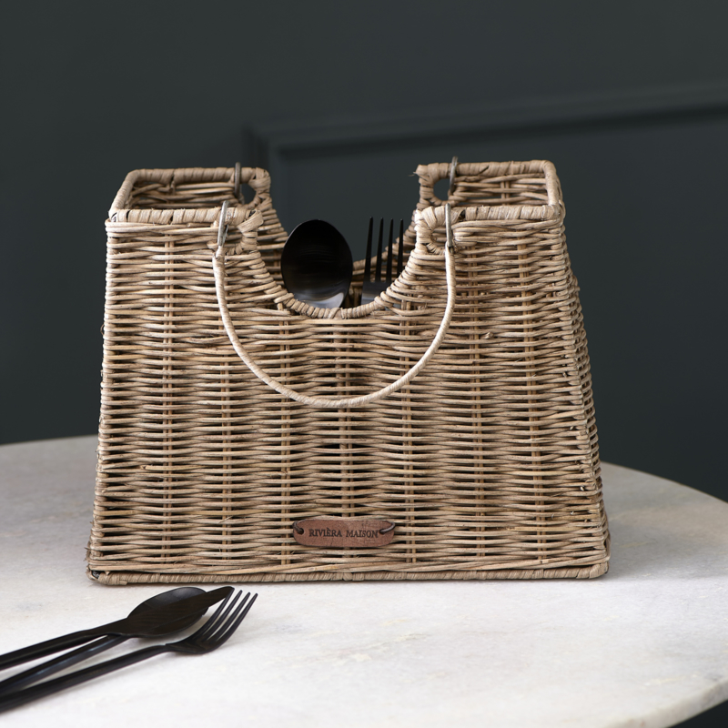 Rustic Rattan Cutlery Bag Riviera Maison 489570