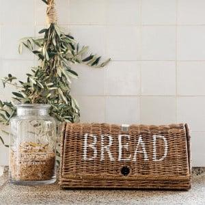 Rustic Rattan Bread Box Riviera Maison 174840