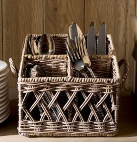 Rustic Rattan Couvert Basket Square Riviera Maison 125270