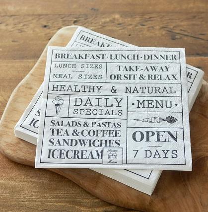 Paper Napkin Breakfast Lunch Dinner Riviera Maison 368180