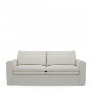 Continental Sofa 2,5 Seater, oxford weave, Alaskan White Riviera Maison 4759001