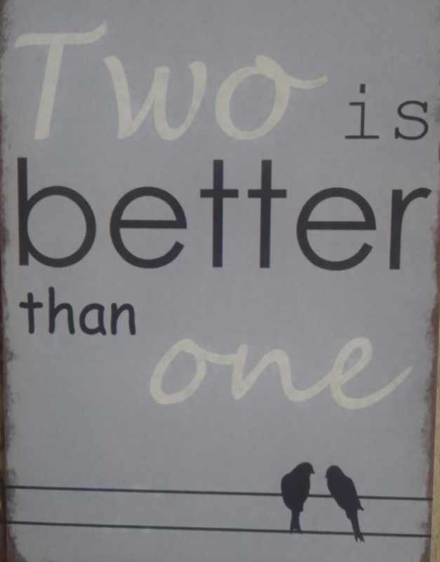 Two is better than one wenskaart