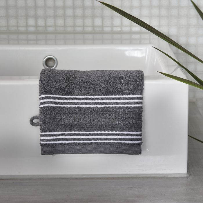 Serene anthracite Washcloth  Riviera Maison 492250