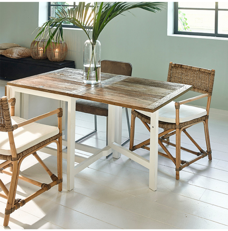 Wooster Street Dining Table Extendable 80x70x200 Riviera Maison 442830