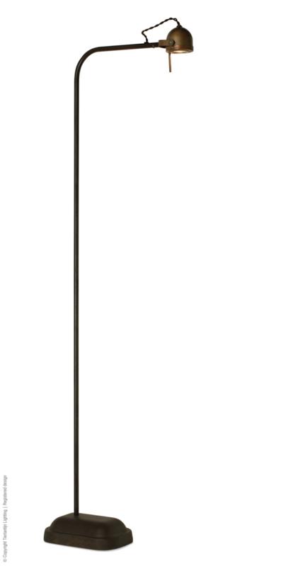 Spezia Vloerlamp Bruin patina Frezoli L.173.1.820