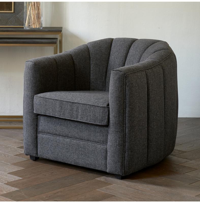 St. Lewis Armchair, mélane weave, carbon Riviera Maison 4911002