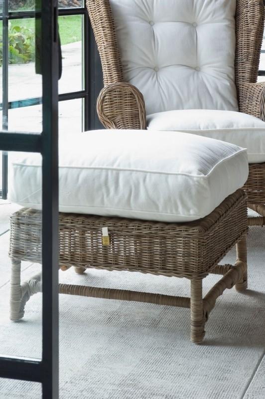 Nicolas Wing Chair Footstool Riviera Maison 106070