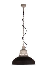 Torr Hanglamp aan ketting Tierlantijn mat zwart / Aluminium