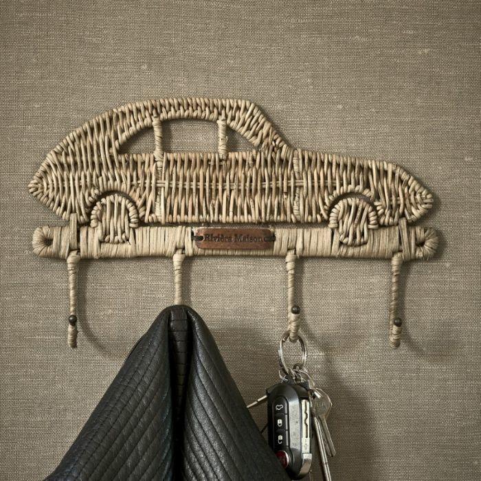 Rustic Rattan Car Coat Hanger Riviera Maison 456880
