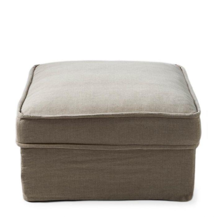 Metropolis Footstool 80x80 cm, washed cotton, natural Riviera Maison 3724001