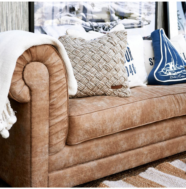 Crescent Avenue Sofa 3 seater, pellini, camel Riviera Maison 3867001