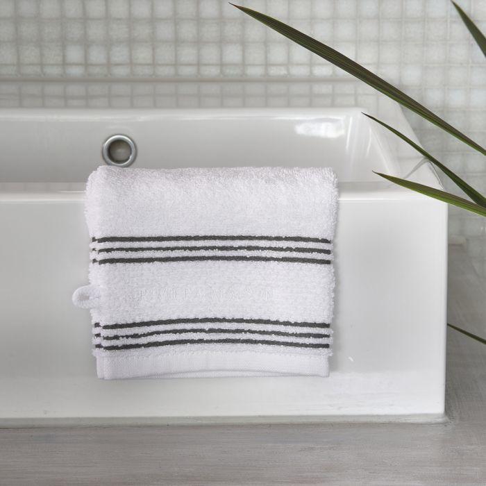 Serene white Washcloth Riviera Maison 492270
