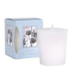 White Cotton geurkaarsje Bridgewater Candle Company