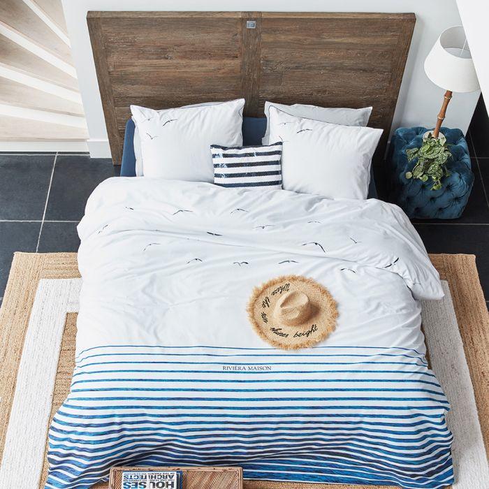 Riviera Maison dekbedovertrek Seagull Blue 240x200/220
