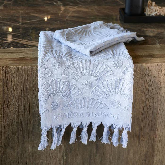 RM Wave Towel light blue 100x50 Riviera Maison 495320