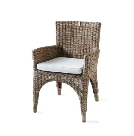 the Hamptons Rustic Rattan Dining chair Riviera Maison