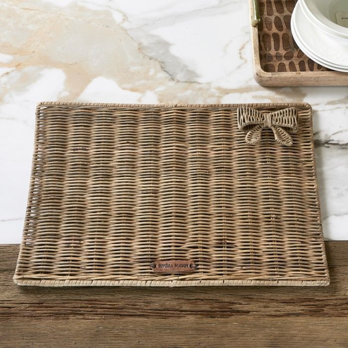Rustic Rattan Pretty Bow Placemat RM 489490