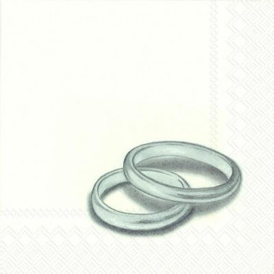 Rings Silver Servetten IHR C602605 cocktailservet