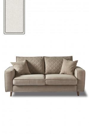 Kendall Sofa 2,5 Seater, oxford weave, alaskan white Riviera Maison 4344001