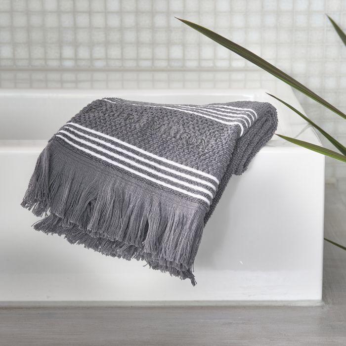 Serene anthracite Guest Towel 50x30 Riviera Maison 492290
