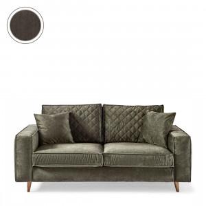 Kendall Sofa 2,5 Seater, velvet, chocolate Riviera Maison 4218007